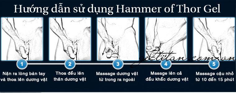 hướng dẫn cách sử dụng hammer of thor gel viên uống giọt dưỡng chất