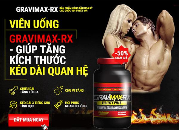 thuốc tăng kích thước dương vật gravimax rx